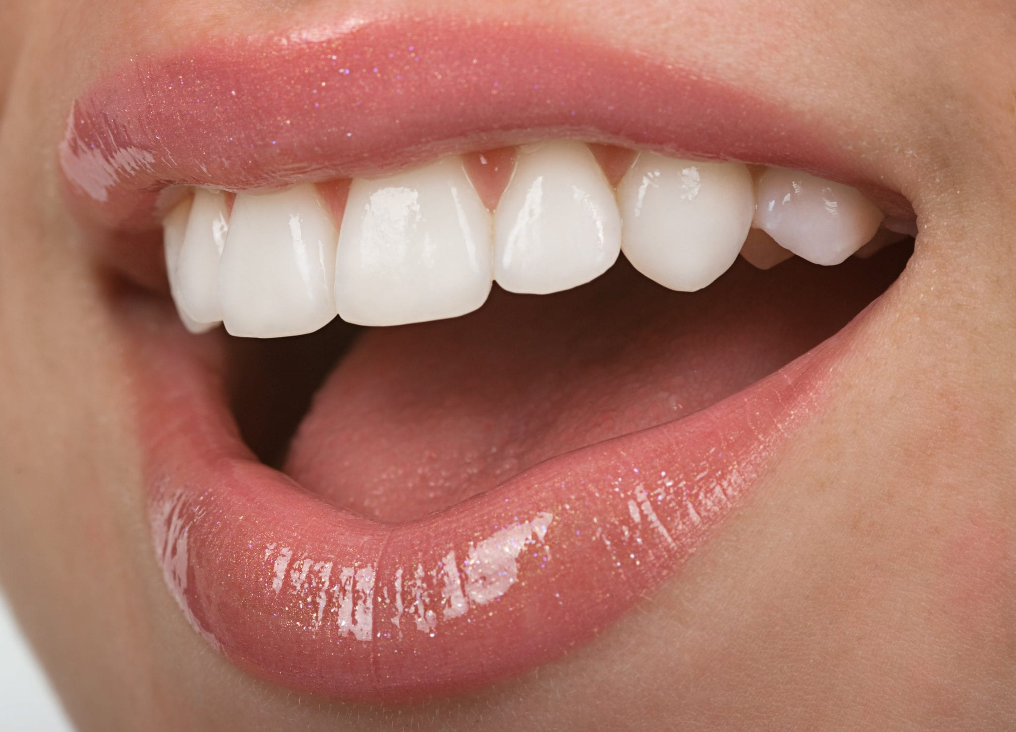 Healthy teen mouth with beautiful white teeth