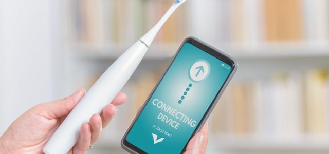 wireless tooth brush that connects to phone app