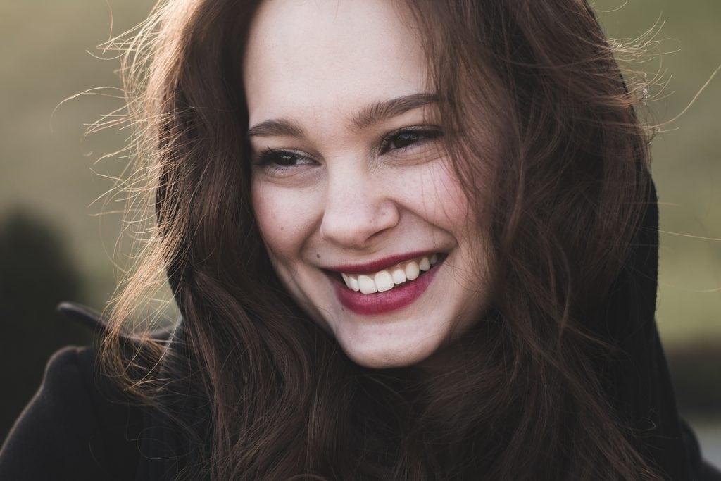 Smiling woman with nice teeth