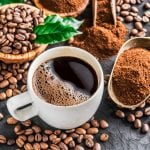 Coffee and roasted coffee beans