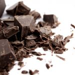 chopped dark choclate heart and teeth healthy candy option
